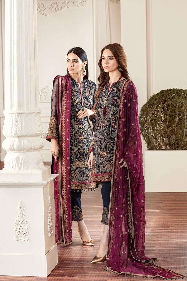 ROUGE - Baroque Chantelle Chiffon Pakistani Suit