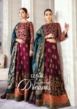Load image into Gallery viewer, Iznik Designer Suit Wedding 2020-Magenta Green