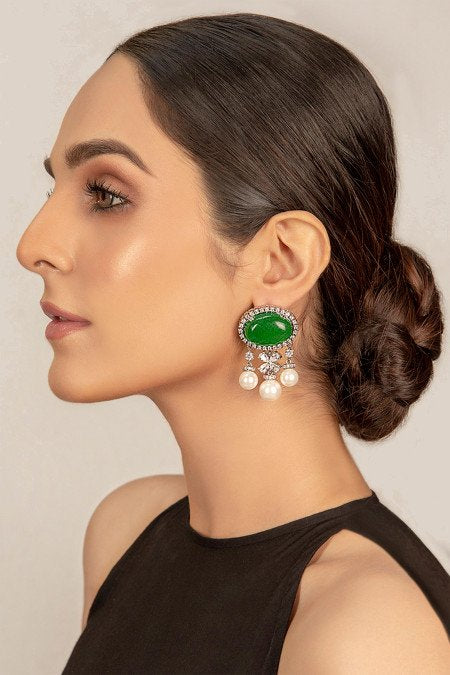 Pakistani Jewellery by Maria B | JER-020-Jade-Green