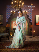 Load image into Gallery viewer,  Shop Asim Jofa Party Wear Suits UK Online at LebaasOnline - Branded Pakistani designer dresses - SALE. Buy Now Asim Jofa Wedding collection 2020 Unique and Custom Made , ready made Saree in the UK and USA with discount price !