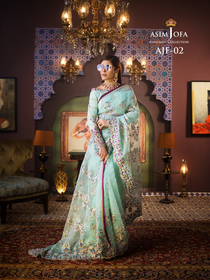 Shop Asim Jofa Party Wear Suits UK Online at LebaasOnline - Branded Pakistani designer dresses - SALE. Buy Now Asim Jofa Wedding collection 2020 Unique and Custom Made , ready made Saree in the UK and USA with discount price !