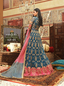 Asim Jofa Silk Anarkali Gown -A luxurious embroidered outfit ideal for any wedding, Eid, Diwali Party and celebrations. Shop Asim Jofa Party Wear Suits UK Online at LebaasOnline - Branded Pakistani designer dresses. Unique and Ready Made Party Wear Salwar Kameez by Asim Jofa 2020 in the UK and USA with discount price.