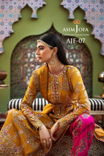 Load image into Gallery viewer, Asim Jofa Silk Salwar Kameez-A luxurious embroidered outfit ideal for any wedding, Eid & Nikah parties. Shop Asim Jofa Party Wear Suits UK Online at LebaasOnline - Branded Pakistani designer dresses. Unique and Ready Made Party Wear Salwar Kameez by Asim Jofa 2020 in the UK and USA with discount code.