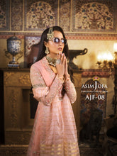 Load image into Gallery viewer, Asim Jofa Organza Collection Salwar Kameez-A luxurious embroidered outfit ideal for any wedding, Mehendi, Mahay, Eid & Nikah parties. Shop Asim Jofa Party Wear Suits UK Online at LebaasOnline - Branded Pakistani designer dresses. Unique and Ready Made Party Wear Salwar Kameez by Asim Jofa 2020 in Birmingham & London.