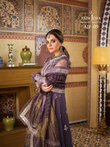 Buy Now Asim Jofa Organza Collection Sharara Kameez with Oversized Dupatta-A luxurious embroidered outfit ideal for any wedding, Mehendi, Mahay, Eid & Nikah parties. Shop Asim Jofa Party Wear Suits UK Online at LebaasOnline - Branded Pakistani designer dresse. Unique and Ready Made Party Wear Salwar Kameez by Asim Jofa 2020 in Birmingham & London.