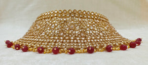 Gold & Ruby Indian Wedding Jewellery Set