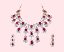 Load image into Gallery viewer, Ruby & Rose American Diamond Necklace Set