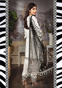 Anaya Luxury Lawn 2020 Suit fancy black and white