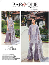 Load image into Gallery viewer, Baroque Premium Lawn Eid Collection 2020 - PL-04 LILAC MIST online Pakistani designer dress Anarkali Suits Party Werar Indian Dresses Pakistani Dresses Eid dresses online shoppingReady made Pakistani clothes UK Eid dresses UK online Eid dresses online shopping readymade eid suits uk eid suits 2019 uk pakistani eid suits uk eid suits 2020 uk Eid dresses 2020 UK