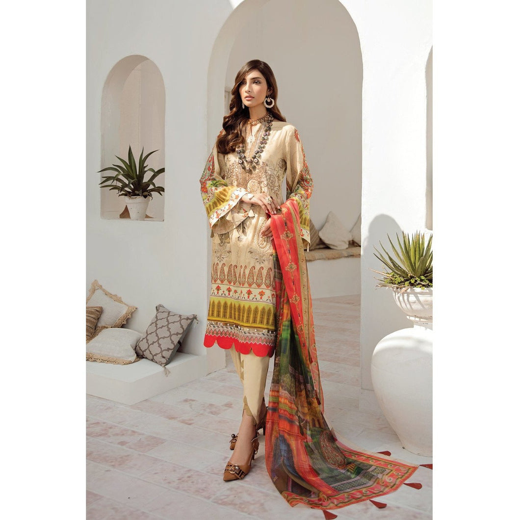 Azalea | Embroidered Lawn Spring Summer 20 | A-12