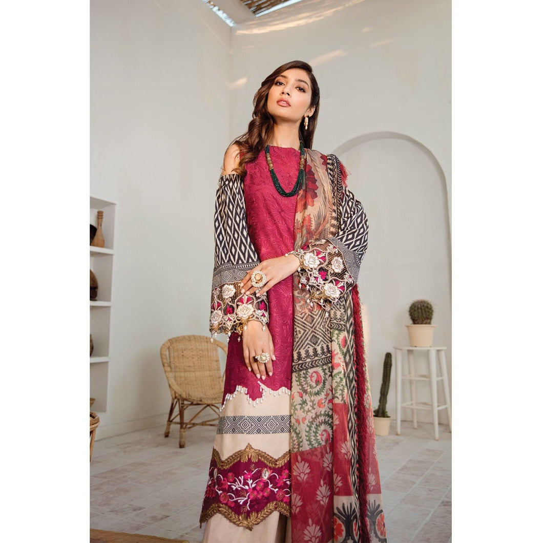 Azalea | Embroidered Lawn Spring Summer 20 | A-13