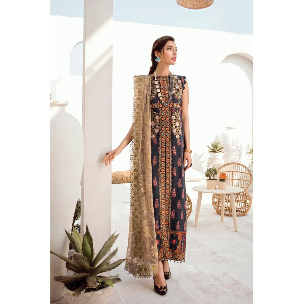 Azalea | Embroidered Lawn Spring Summer 20 | A-06