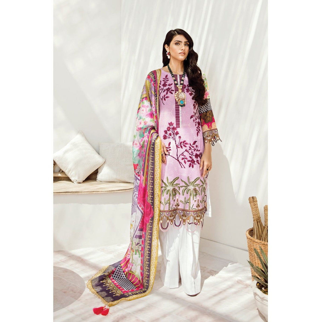 Azalea | Embroidered Lawn Spring Summer 20 | A-09