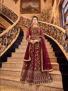 SNOWWHITE -Swagat Anarkali Suits| Indian dress| party gown| gold pink mustard/ maroon dress| violet 2019 collection - LebaasOnline