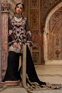 Sophisticated Black Kashmiri Embroidery Suit For Luxury Wedding
