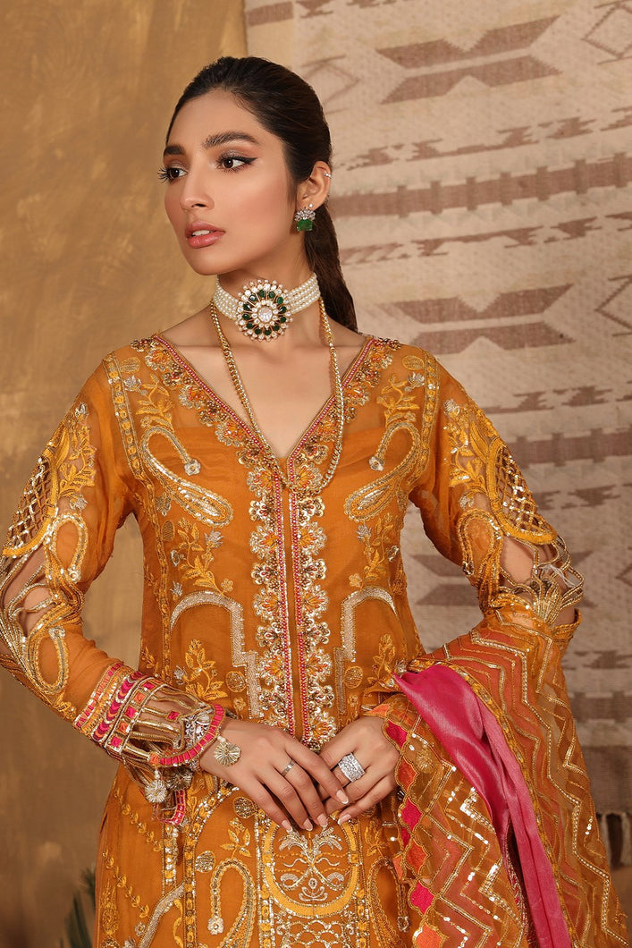 Buy Emaan Adeel | Virsa Luxury Chiffon Collection 2021 | VR 02 from Emaan Adeel's latest Pakistani suits online. We are stockists of Emaan Adeel Chiffon 2021 collection, Maria b dresses, asian clothes Various Pakistani suits are available exclusively on SALE! Buy asian dresses UK from Lebaasonline in UK, Spain, Austria