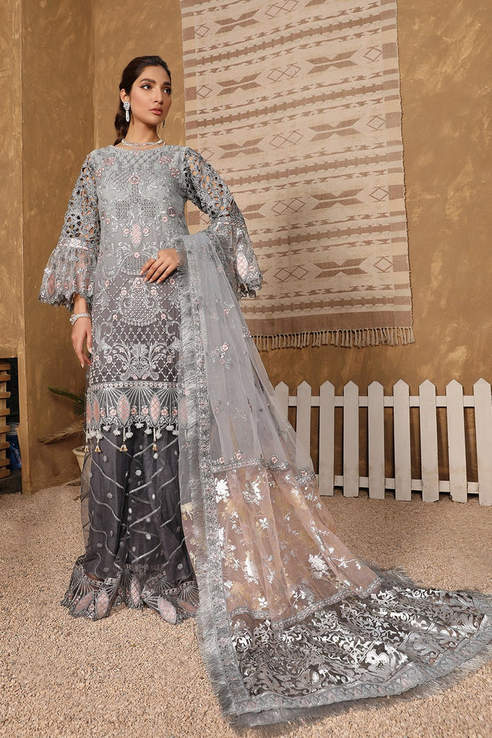 Buy Emaan Adeel | Virsa Luxury Chiffon Collection 2021 | VR 06 from Emaan Adeel's latest Bridal collection. We are stockists of Emaan Adeel Chiffon 2021 collection, Maria b dresses Various Pakistani clothes online UK are available exclusively on SALE! Buy Pakistani suits from Lebaasonline in UK, Spain, Austria!