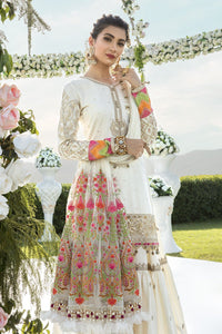 Buy MARIA B SATEEN Off-white Pakistani Ready made, Stitched & unstitched 3 pc Suits Collection 2020 in the UK for Party & Wedding Festivities. Shop Now MARIA B SATEEN & Silk Off-White Indian Pakistani Dresses & Designer Wear for UK Asian Women Online at Best Price from LebaasOnline Boutique.