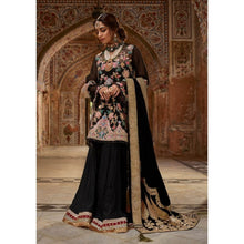 Load image into Gallery viewer, Sophisticated Black Kashmiri Embroidery Suit For Luxury Wedding