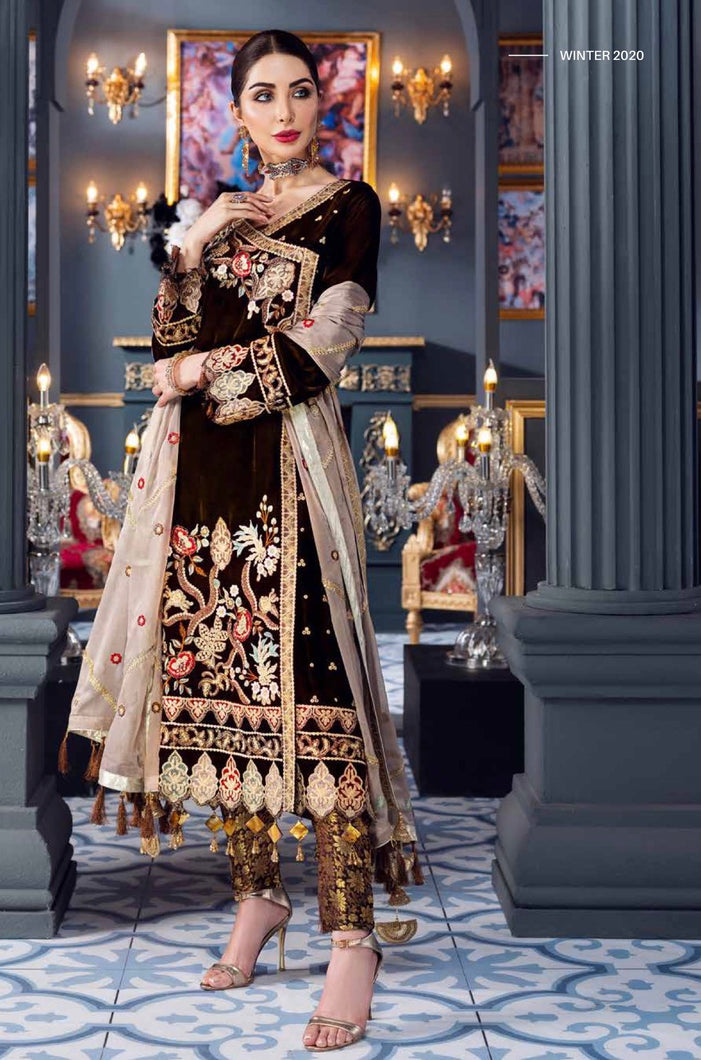 EMAAN ADEEL | Velvet Winter  Collection 2020-MKH04