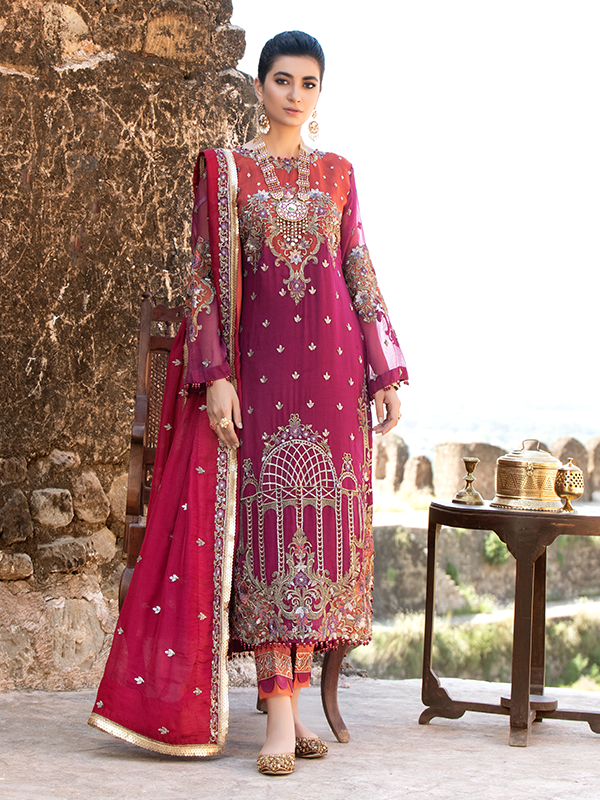 Imrozia Poshak E Khas DN 5001 : Embroidered organza with handmade embellishment by Serene Clothing Imrozia Women Brand Pakistani Designer Dresses are now available at Lebaasonline ! Pakistani Clothes UK and fashion are a central part of Pakistani culture and Pakistani Weddings Buy Imrozia Poshak E Khas at LebaasOnline.