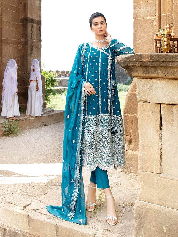 Imrozia Poshak E Khas DN 5003 : Embroidered organza with handmade embellishment by Serene Clothing Imrozia Women Brand Pakistani Designer Dresses are now available at Lebaasonline ! Pakistani Clothes UK and fashion are a central part of Pakistani culture and Pakistani Weddings Buy Imrozia Poshak E Khas at LebaasOnline.