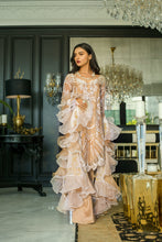 Load image into Gallery viewer, Mina Hasan Chiffon Luxury Suit 2020 in Gold