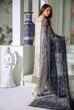 Load image into Gallery viewer, Blue grey wedding suit Pakistani designer 2020 latest collection