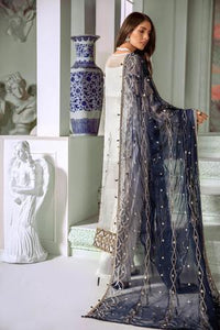 Blue grey wedding suit Pakistani designer 2020 latest collection