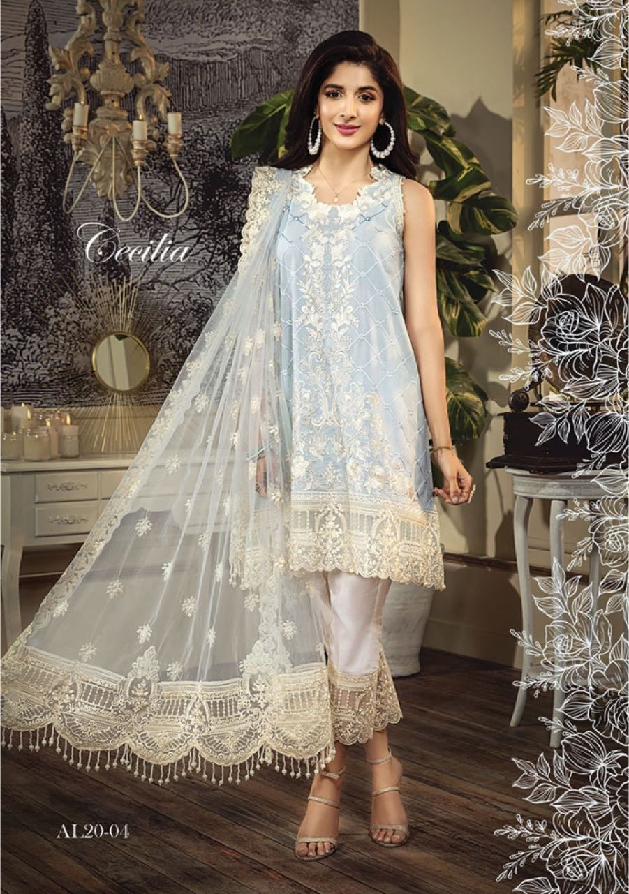 Anaya Luxury Lawn 2020 Suit Blue