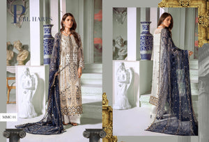 silver grey Pakistani wedding suit by Maryum n Maria 2020 wedding Indian designer collection