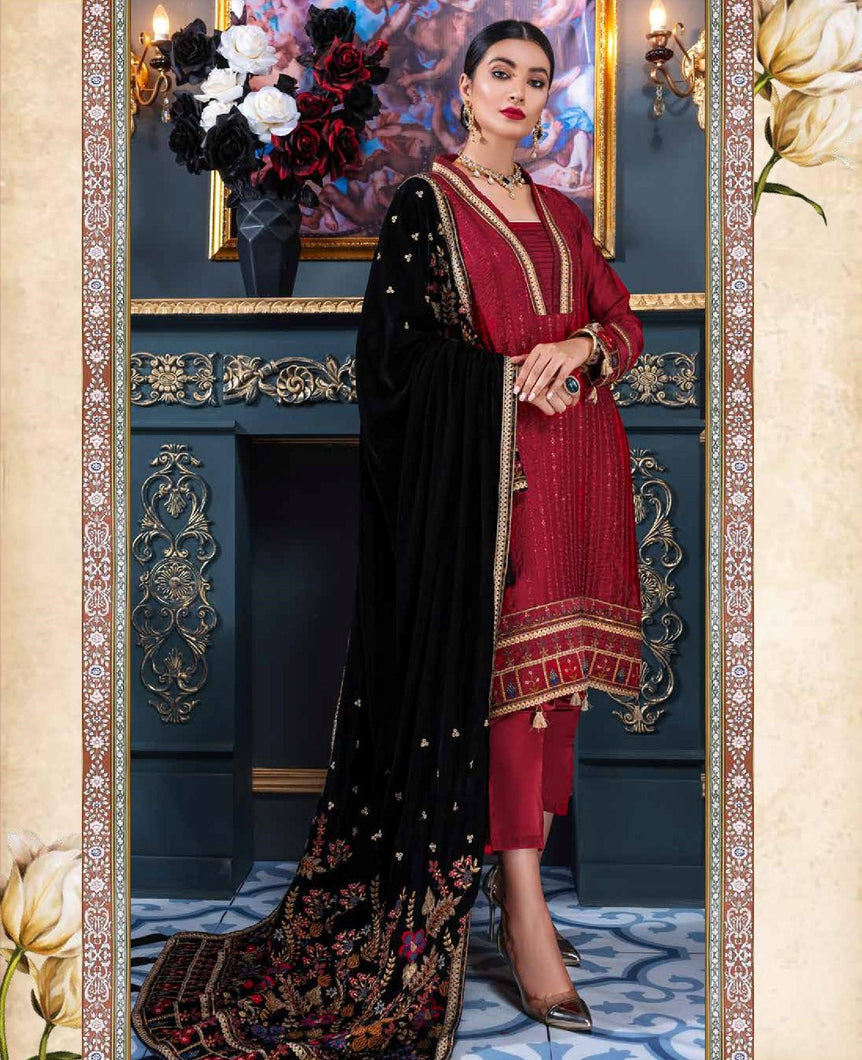 EMAAN ADEEL | Velvet Winter  Collection 2020-MKH01