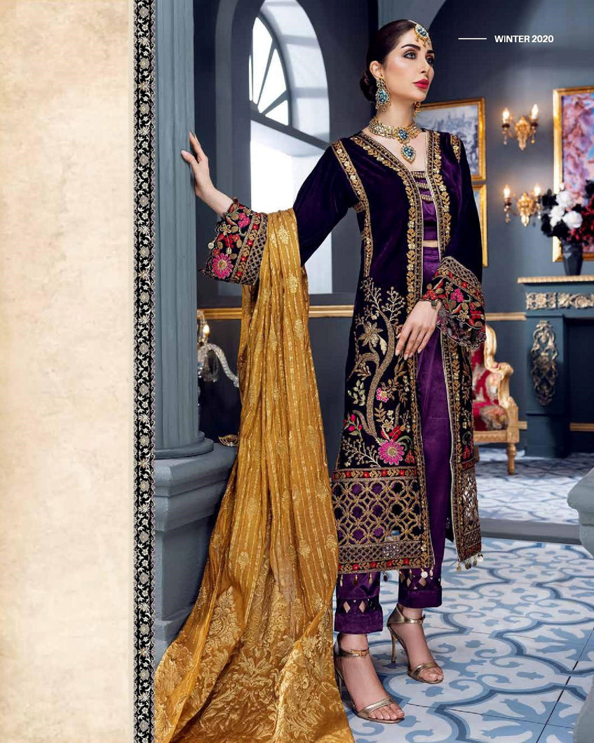 EMAAN ADEEL | Velvet Winter  Collection 2020-MKH06