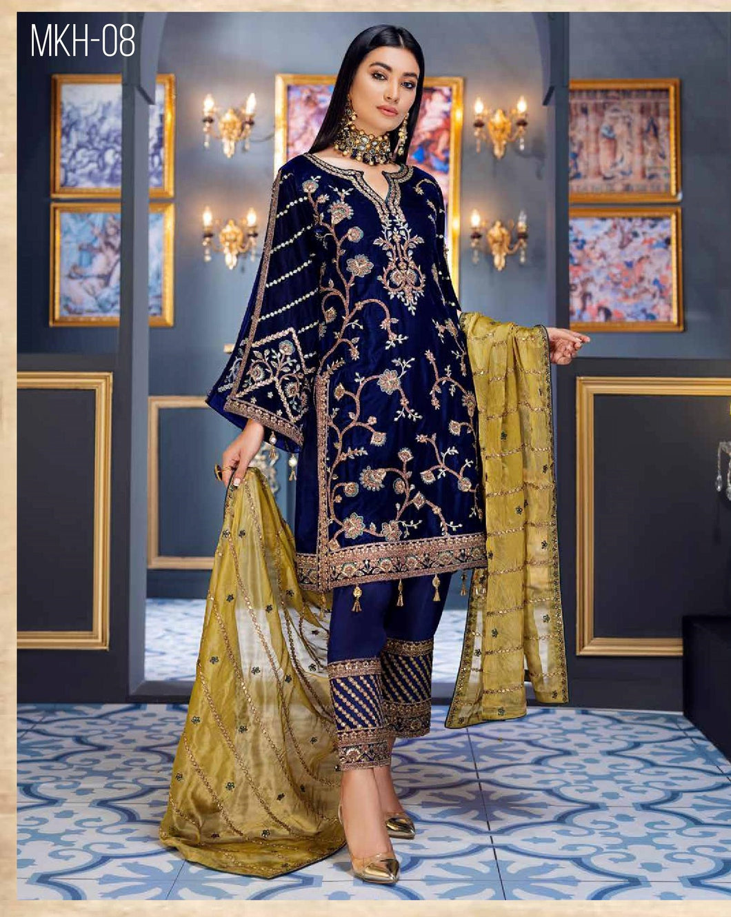 EMAAN ADEEL | Velvet Winter  Collection 2020-MKH08