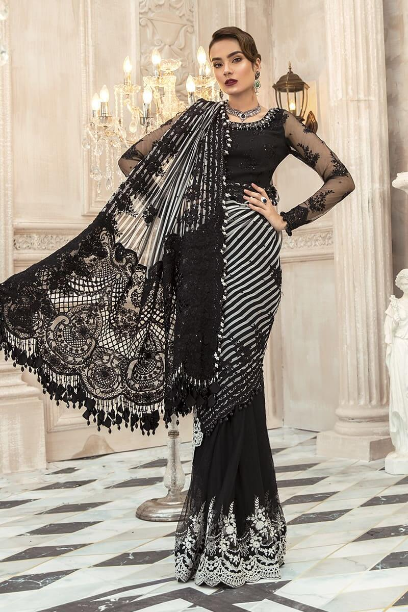 D3- Maria B Mbroidered Saree 2020