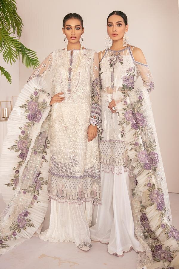 Buy Baroque Chantelle '21 White from Lebaasonline Pakistani Clothes Stockist in UK @ best price- SALE ! Shop Baroque Chantelle '21, Noor LAWN 2021, Maria B Lawn 2021 Summer Suits, Pakistani Clothes Online UK for Wedding, Party & Bridal Wear. Indian & Pakistani Summer Dresses by BAROQUE in the UK & USA at LebaasOnline