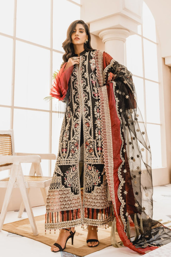 MARYUM N MARIA | MASHQ 2021 | Black Maze (MX-05) : Buy MARYUM N MARIA Pakistani clothing brand at our Online store. Lebaasonline Stockists of  Indian & Pakistani Bridal and Wedding Party Dresses Collection 2020/21. Shop MARYUM N MARIA - ORIGINAL Pakistani DESIGNER DRESSES IN THE UK, London & USA ONLINE -SALE PRICE!