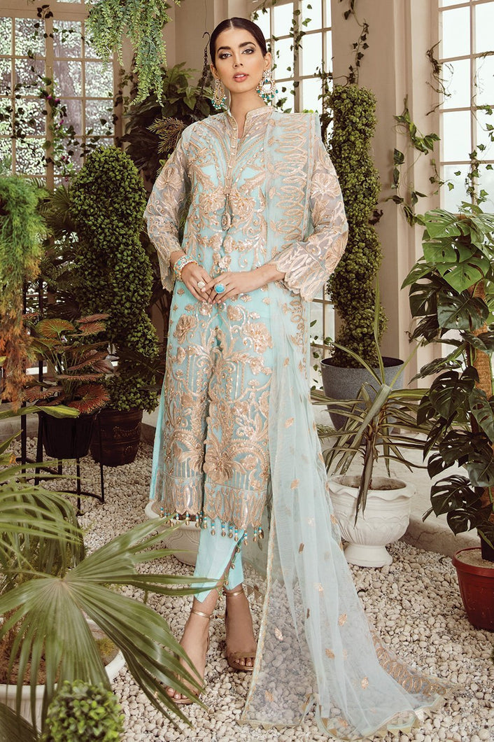 MARYUM N MARIA | MASHQ 2021,  Icy Stride (MZ-01) : Buy MARYUM N MARIA Pakistani clothing brand at our Online store. Lebaasonline Stockists of  Indian & Pakistani Bridal and Wedding Party Dresses Collection 2020/21. Shop MARYUM N MARIA - ORIGINAL Pakistani DESIGNER DRESSES IN THE UK, London & USA ONLINE -SALE PRICE