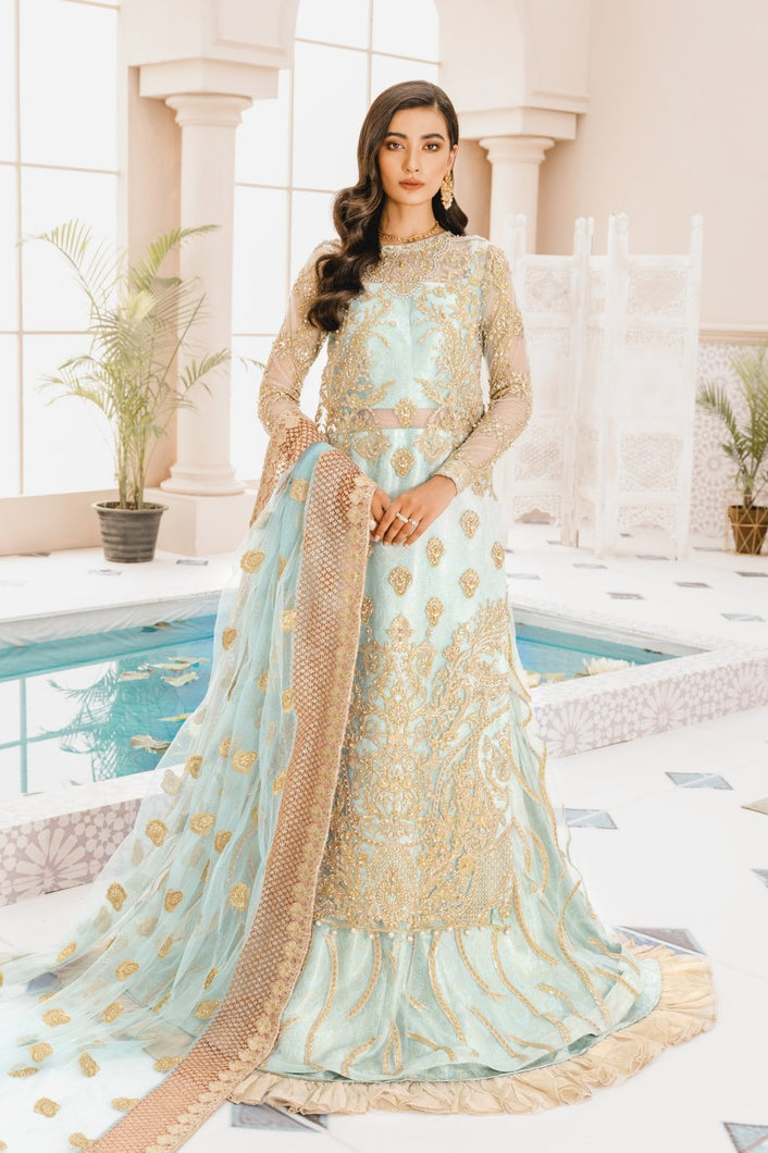 MARYUM N MARIA | MASHQ 2021 | Blue Age (MX-02) : Buy MARYUM N MARIA Pakistani clothing brand at our Online store. Lebaasonline Stockists of  Indian & Pakistani Bridal and Wedding Party Dresses Collection 2020/21. Shop MARYUM N MARIA - ORIGINAL Pakistani DESIGNER DRESSES IN THE UK, London & USA ONLINE -SALE PRICE!