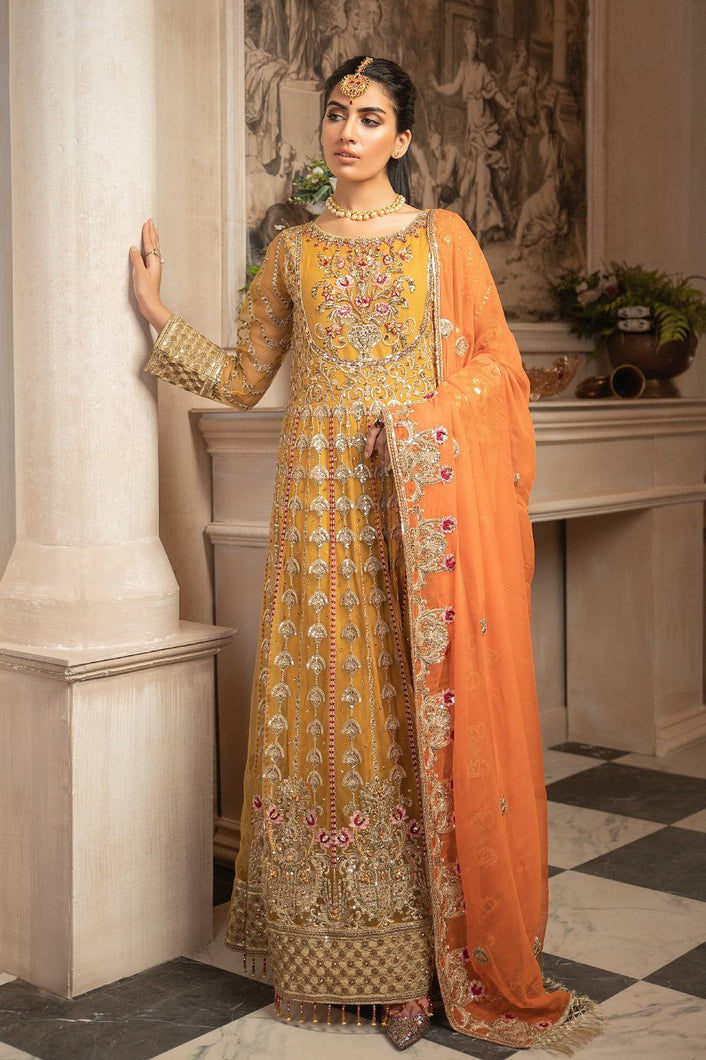 MARYUM N MARIA | MASHQ 2021, Formal Maxi-Kesari(MY-01): Buy MARYUM N MARIA Pakistani clothing brand at our Online store. Lebaasonline Stockists of  Indian & Pakistani Bridal and Wedding Party Dresses Collection 2020/21. Shop MARYUM N MARIA - ORIGINAL Pakistani DESIGNER DRESSES IN THE UK, London & USA ONLINE -SALE PRICE