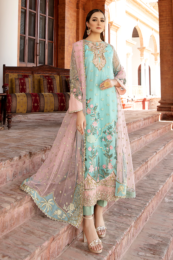 Imrozia Premium-  Regence 2021, I-127 ESPERER, Blue : Buy Imrozia Premium Pakistani clothing brand at our Online store. Lebaasonline Has all the latest Women`s Clothing Collection of Salwar Kameez, Indian & Pakistani  Bridal and Wedding Party attire Collection. Shop Imrozia ORIGINAL DESIGNER DRESSES IN THE UK ONLINE