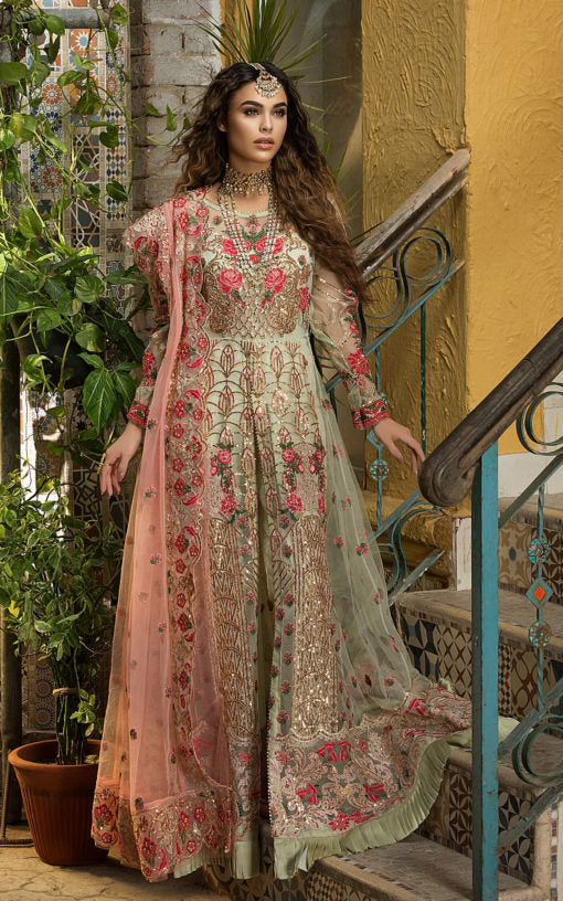 Buy ASIFA AND NABEEL | Inara ZN-01-Pakistani Wedding Dress For Women at Our Online Pakistani Designer Boutique UK, Indian & Pakistani Dresses and ready-made Asian Clothes UK. ASIFA & NABEEL-Inara ZN-01-Pakistani Wedding Dress Embroidered Chiffon Collection 2020 & Indian Party Wear Outfits USA on SALE at Lebaasonline