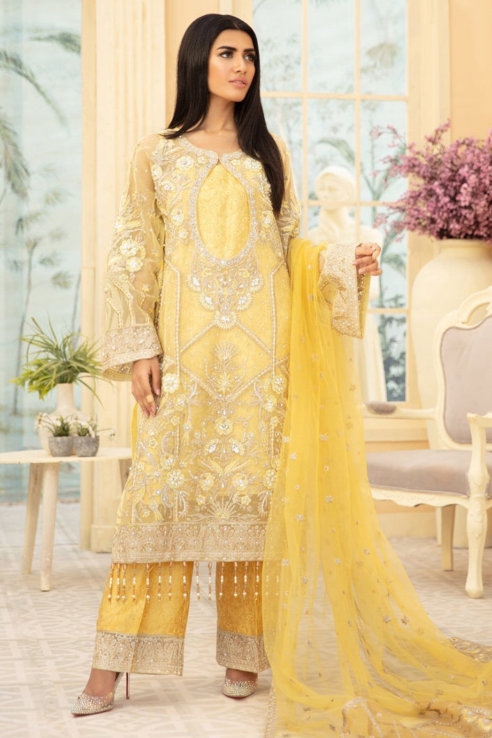 Maryum N Maria | Chiffon Collection 2020 | YELLOW LIGHT-MMD-09