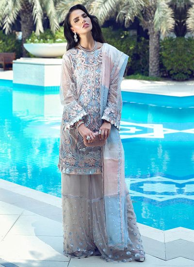 Mushq Designer Suit ALESAN in trendy pastel colours - LebaasOnline