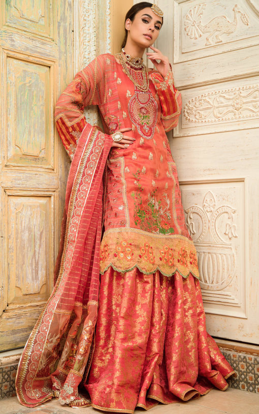 Buy ASIFA AND NABEEL | Mahjabeen ZN-02-Pakistani Wedding Dress For Women at Our Online Pakistani Designer Boutique UK, Indian & Pakistani Dresses and ready-made Asian Clothes UK. ASIFA & NABEEL-Mahjabeen ZN-02 -Pakistani Wedding Dress Embroidered Chiffon Collection 2020 & Indian Party Wear Outfits USA on SALE at Lebaasonline