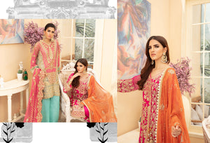 Maryum N Maria | Chiffon Collection 2020 | PINKILE WHELITE-MMD-01