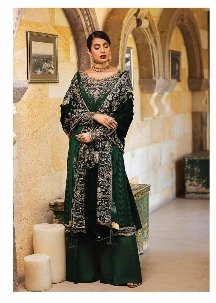 Buy MUSHQ Velvet Collection 2020 Ivy(MV20-4) Winter Sky at Lebaasonline with discount price. Explore New Designer Mushq edit Velvet shalwar kameez suits, Woolen Shawl & Pakistani clothes online at our Online Boutique UK. Shop Ready made Pakistani Brand Clothes & MAROON LEHENGA for Asian wedding, party & festivities