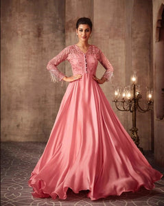 Pink Indian Party Gown by Mohini Glamour - 75003