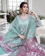 Load image into Gallery viewer, REPUBLIC WOMENSWEAR | Indian Pakistani Luxury Wedding Dresses Collection 2021-  La'brise LF49. Pakistani Formal Wear For Indian & Pakistani Women in the UK & USA. Exclusively designed Sharara style Gown with delicate embroidery on chiffon & silk fabric, matching dupatta is included. Available in Stitched and Unstitched