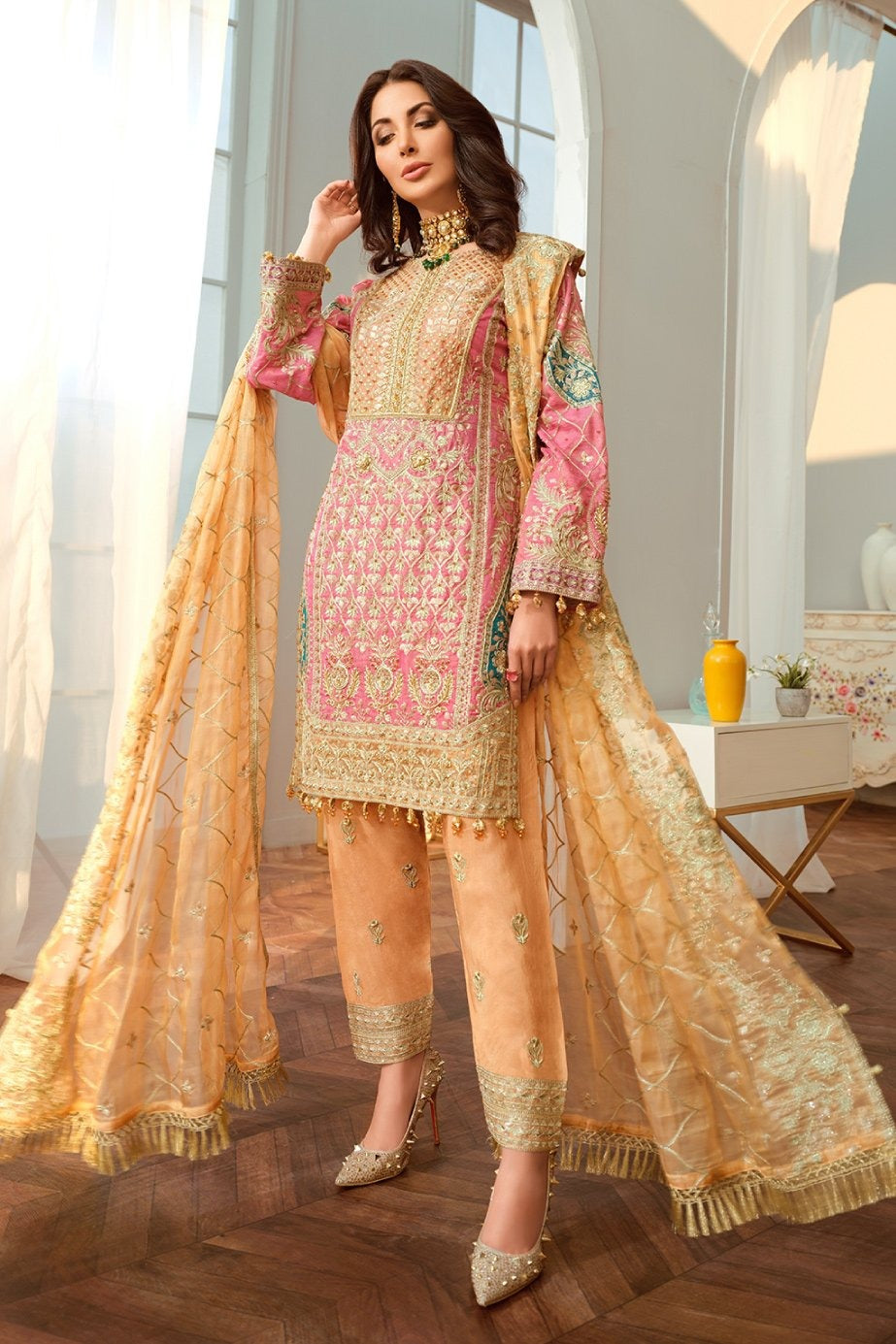 Shamrock Maryum & Maria Premium Chiffon Collection 2020 – SF-06-Online Pakistani designer dress Anarkali Suits Party Werar Indian Dresses Pakistani Dresses